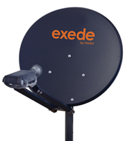 Exede Satellite Internet Dish